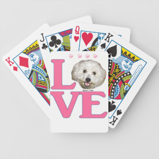 LOVE Bichon Frise Bicycle Playing Cards