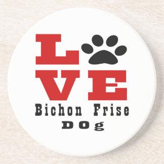 Love Bichon Frise Dog Designes Beverage Coasters