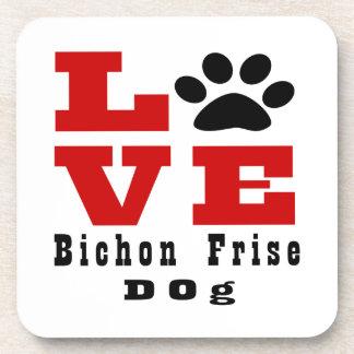 Love Bichon Frise Dog Designes Drink Coasters