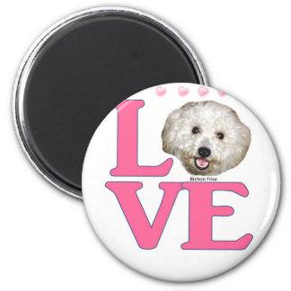 LOVE Bichon Frise Magnet