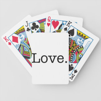 Love. Bicycle Playing Cards