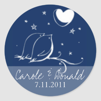 Love Bids Wedding Seal Round Sticker