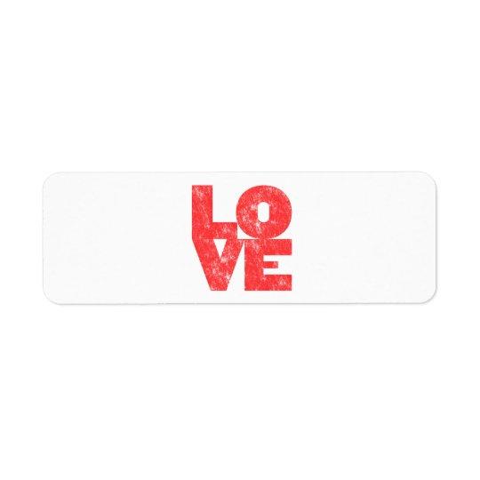 Love (big block letterpress style)