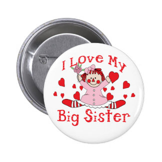 Love Big Sister Pinback Buttons