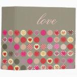Love binders, colourful polka dots
