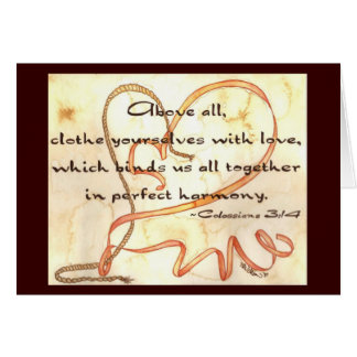 Love Binds Together Greeting Card