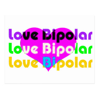 love bipolar Halftone Postcard