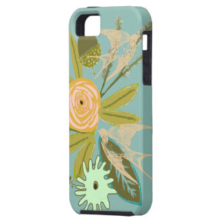 Love Bird and Flora iphone 5S Phone case Case For The iPhone 5