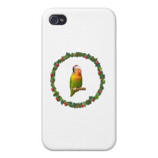 Love Bird Christmas Wreath iPhone 4/4S Cover