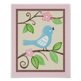 Love Bird Nursery Art Poster