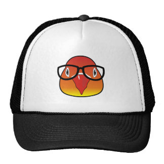 Love bird with glasses trucker hat