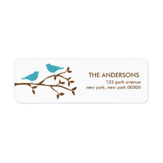 Love Birds Address Labels