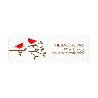 Love Birds Address Labels