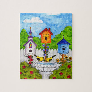 Love Birds Bird Houses Puzzle