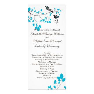 Love Birds Blue Rack Card Design