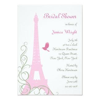 "Love Birds Bridal Shower 5"" X 7"" Invitation Card"