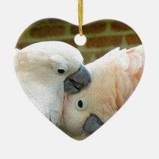 Love Birds Ceramic Heart Ornament