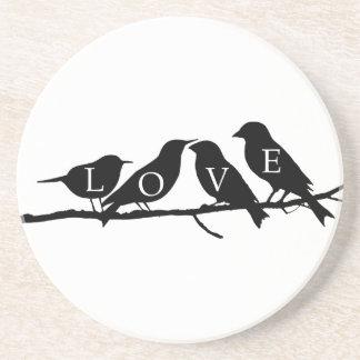 Love Birds Drink Coasters