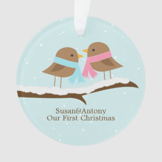 Love Birds Couple Personalized Christmas