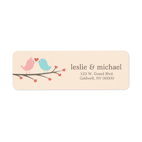 Love Birds Custom Address Labels