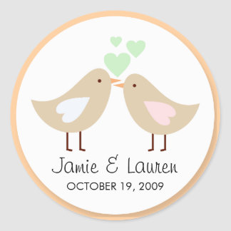 Love Birds Custom Wedding Seal