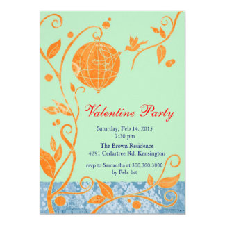 Love Birds Cute Valentine's Day Party Invitations