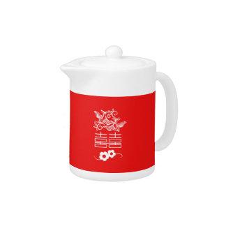 Love Birds - Double Happiness - Tea Pot