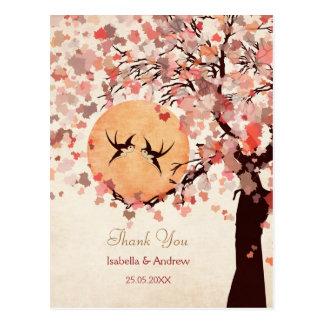 Love Birds - Fall Wedding  Thank You Card