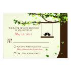 Love Birds Falling Hearts Oak Tree RSVP Card