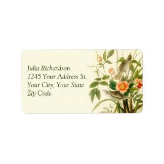 love birds flowers nature wedding address labels