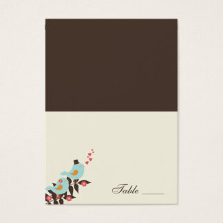 Love Birds Folded Place Cards