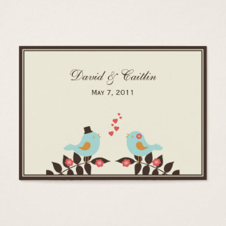 Love Birds Gift Tags/Attachment Cards