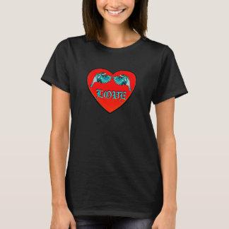 Love Birds Heart Ladies T-Shirt