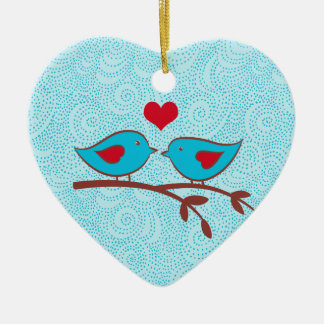 Love Birds Heart Ornament