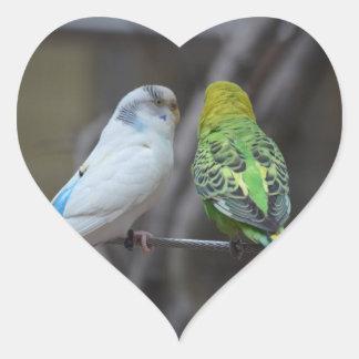 Love Birds Heart Sticker