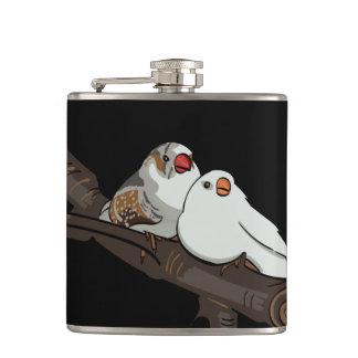 Love Birds Hip Flask