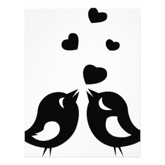 Love birds letterhead
