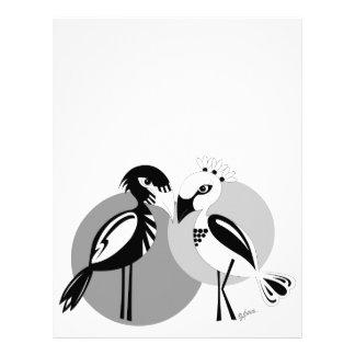 Love Birds Custom Letterhead