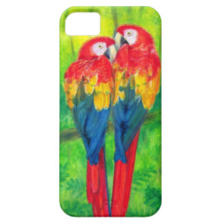 Love Birds- Macaw Parrots iPhone 5 Case