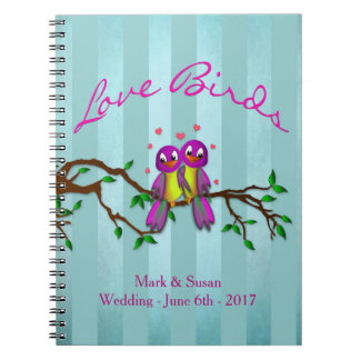 LOVE BIRDS NOTEBOOK - SPIRAL