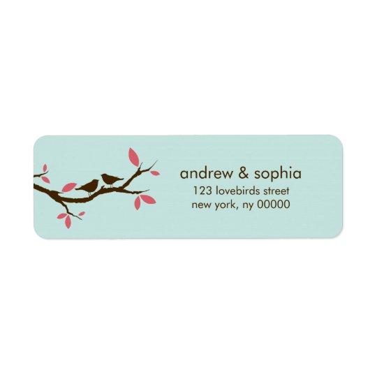 Love Birds on Tree Wedding
