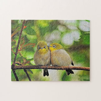 Love Birds Painting Jigsaw Puzzle