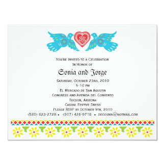 Love Birds Papel Picado Banner Invitation