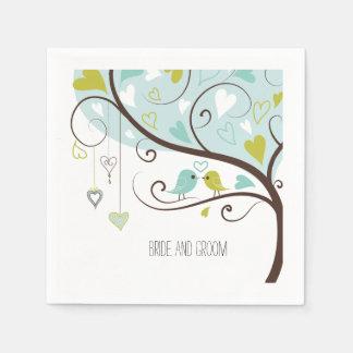 Love Birds Paper Napkins