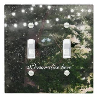 Love Birds + Pine Tree Rustic Night Lights Custom Light Switch Cover