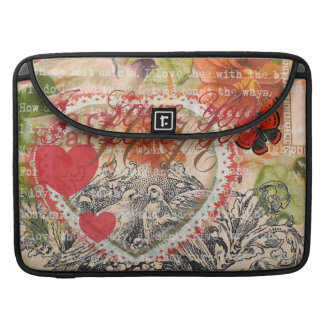 Love Birds Pink Heart Sleeve For MacBooks