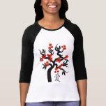 Love Birds Sakura cherry tree Chinese love symbol Shirt