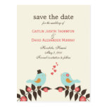 Love Birds Save The Date Card Post Cards