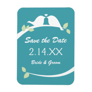 Love Birds Save the Date Magnet