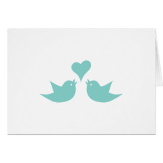 Love Birds Singing from the Heart Card
